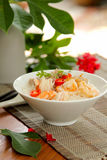 Rice soup with prawn and mince pork Stock Photos