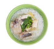 Rice Soup With sea bass fish Stock Images