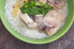 Rice Soup With sea bass fish Stock Image