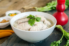Rice Soup With sea  fish : Thai food Stock Photo