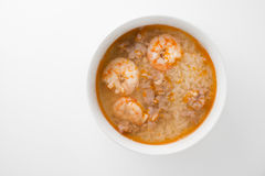 Rice soup with shrimp Royalty Free Stock Images