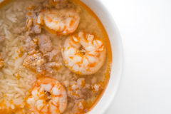 Rice soup with shrimp Royalty Free Stock Photo