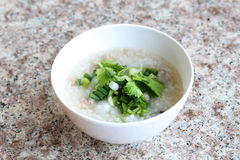 Rice soup of Thai foods. Royalty Free Stock Images