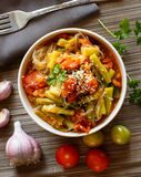 Rice spaghetti with vegetables Royalty Free Stock Image