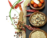 Rice And Spices Stock Photos