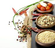 Rice And Spices Stock Photo