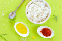 Rice with spices Stock Images