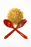 Rice and spoon Royalty Free Stock Photography