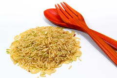 Rice and spoon Stock Photography