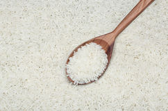 The rice in spoon Stock Photography