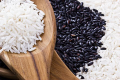 Rice and Spoons Stock Image