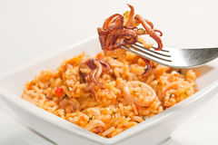 Rice with squid Royalty Free Stock Photos