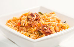 Rice with squid Royalty Free Stock Photo