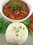 Rice Stack Chili Con Carne Stock Images