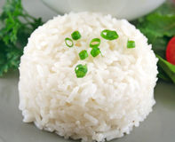 Rice Stack With Garnish Stock Images