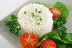 Rice Stack And Salad Royalty Free Stock Image