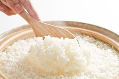 Rice, steam Stock Photos