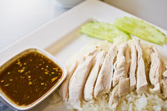 Rice steamed with chicken Royalty Free Stock Image