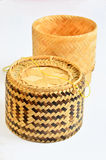 Rice steamer. Straw rice steamer bought in Thailand Royalty Free Stock Images