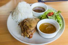 Rice stewed chicken Stock Photo