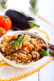 Rice with stewed vegetables Stock Images