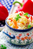 Rice stewed with vegetables Stock Photos