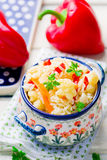 Rice stewed with vegetables Royalty Free Stock Photos