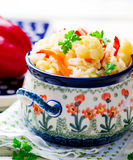 Rice stewed with vegetables Royalty Free Stock Image