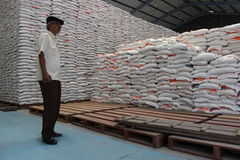 Rice storage warehouses Stock Photography