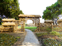 Rice straw gate Royalty Free Stock Images