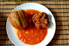 Rice-stuffed Peppers stock images