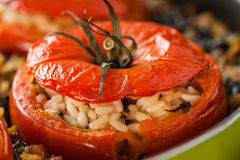 Rice Stuffed Tomato Closeup Royalty Free Stock Images