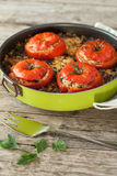 Rice Stuffed Tomatoes Royalty Free Stock Image