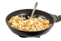 Rice stuffing pan Royalty Free Stock Images