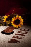 Rice And Sunflowers - Vertical Stock Photos