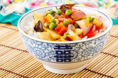 Rice with sweet and sour vegetables Royalty Free Stock Photography