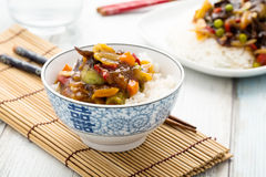 Rice with sweet and sour vegetables Royalty Free Stock Photos