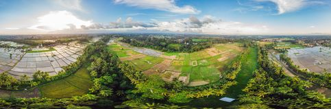 Rice Terrace Aerial Shot. Image of beautiful terrace rice field.  stock image