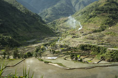 Rice terraces banaue luzon mountains philippines Stock Images