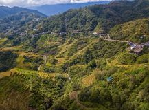 Rice terraces at Banaue View Point. On the island of Luzon, Philippines Stock Photography