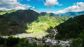 Rice terraces fields in Ifugao province mountains. Banaue, Philippines stock video footage