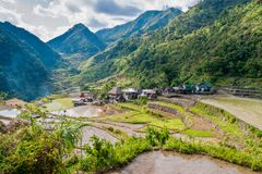 Rice-terraces and village of Banga-An Royalty Free Stock Photos