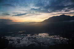Rice terraces of yuanyang Royalty Free Stock Photos