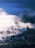 Rice terraces of yuanyang in the morning Stock Photo