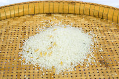 Rice of Thailand. Rice on bamboo for screen Royalty Free Stock Photo