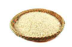 Rice threshing basket Stock Image