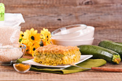 Rice timbale with zucchini. Royalty Free Stock Photo