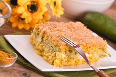 Rice timbale with zucchini. Stock Photos