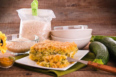 Rice timbale with zucchini. Royalty Free Stock Photography