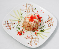 Rice with tomato and pepper Royalty Free Stock Photo